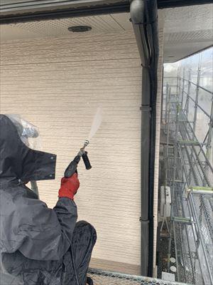 塩尻市で行いました窯業系サイディングへの艶消し無機塗装