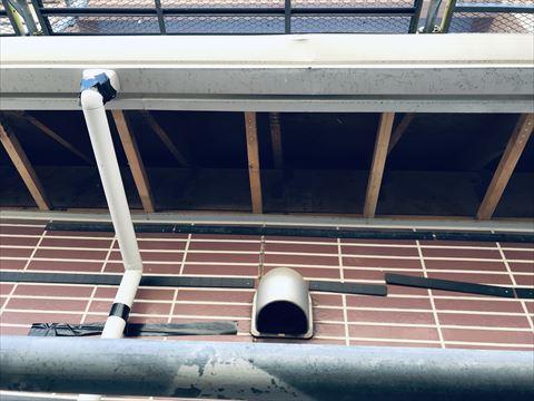 塩尻市の三井ホーム・外壁リフォームの時換気フード取付ポイント注意事項