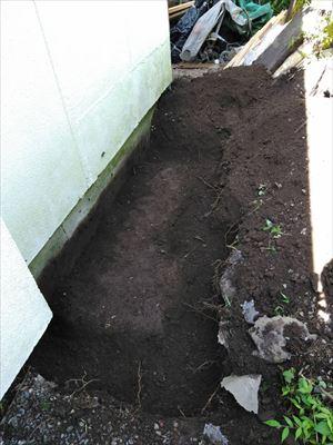 エコキュート土間コン 掘削