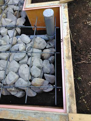 エコキュート土間コン 砕石