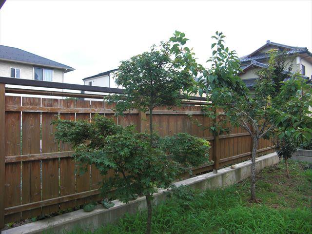 松本市波田M邸木部塀塗装