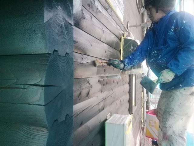 ウッドハウス木部塗装