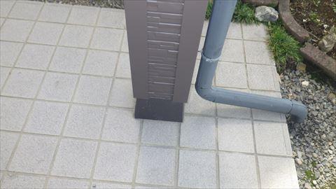 玄関柱サイディング