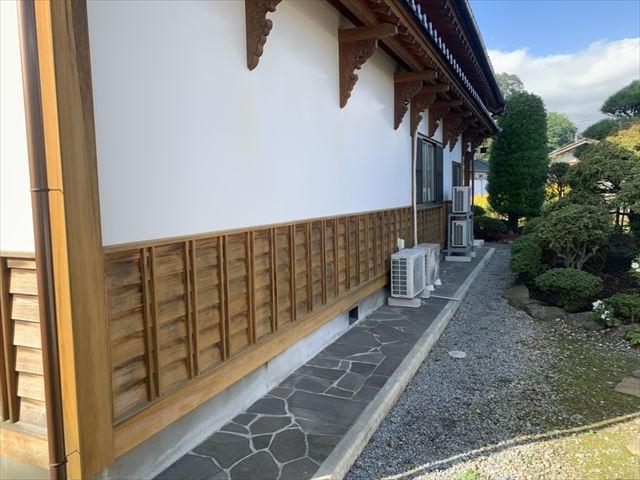 塩尻市大門 山田邸 外壁木部塗装