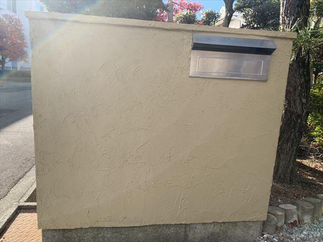 塩尻 塀塗装