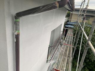 モルタル壁リシン吹付吹き替え工事
